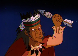 The Medicine Man determining if John Smith is good or evil