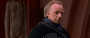 Senator Palpatine listens