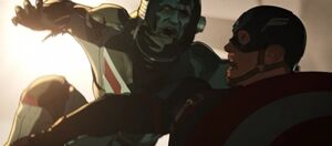 Captain America is attacked by Zombie Hank Pym
