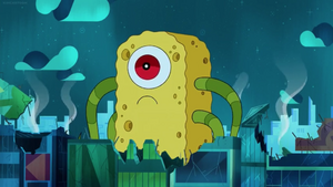 Mr. Big Eye and Spongey Together