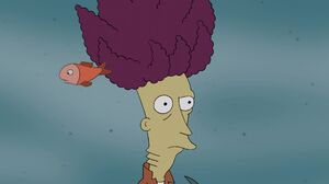 Sideshow bob under in water