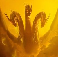 Godzilla king of the monsters ghidorah poster clear keyart