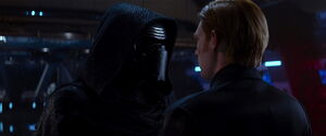 Kylo argues with Hux