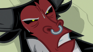 Lord Tirek glaring at Cozy Glow S9E8