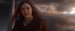 Scarlet Witch confronts Thanos