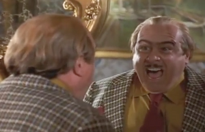 Harry Wormwood yelling comically