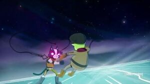 Possessed Avocato fights the team squad Final space season 2 episode 13