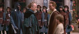 Chancellor Palpatine arrives