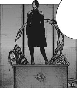 Kichimura preparing to eliminate Iwao and Urie