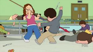 Meg Impales a Student