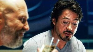 Tony Stark & Obadiah Stane - Pizza Scene Iron Man (2008) Movie CLIP HD