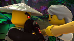 Techno Wu vs Master Garmadon