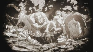 Titans eating humans