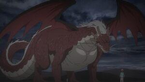Damocles (Dragon Form) and Kobayashi
