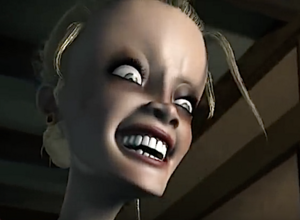 Evil laughing woman