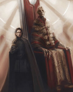 Snoke and Kylo concept art