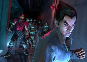 800px-Kazuya and Tekken Force - Artwork Image - Tekken 4.jpg