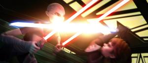 Asajj Ventress Anakin pounce