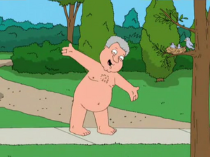 Naked Clinton Screams at the Birds