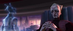 Palpatine Kharrus hologram