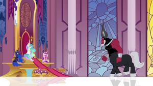 Tirek facing the princesses S4E26