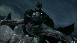 Batman and Man-Bat fighting