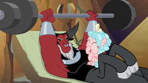 Cozy Glow giggling at Lord Tirek S9E8