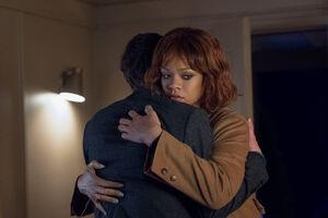 Norman hugs Marion