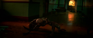 Welcome to Raccoon City - Licker in police station