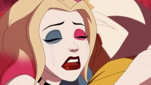 Harley Quinn crying