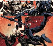 Knull (Earth-616) , Knull's Symbiote (Earth-616) and Edward Brock (Earth-616) from King in Black Vol 1 5 001