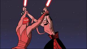 Asajj Anakin grabbed