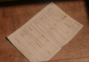 Jimmys birth certificate