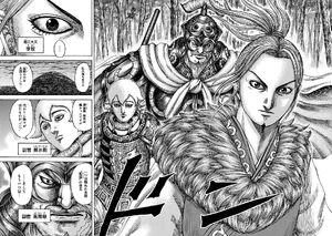 Ri Boku, Ba Nan Ji, and Shun Sui Ju at The End of Battle for Kokuyou Kingdom