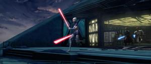 Asajj Jedi chase