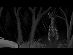 """Jurassic Park novel, """"Nedry"""" illustration"""