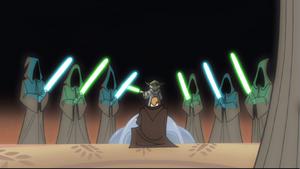 Skywalker knighting ceremony