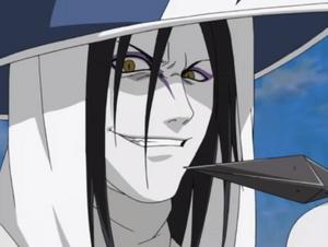 Orochimaru's evil smirk