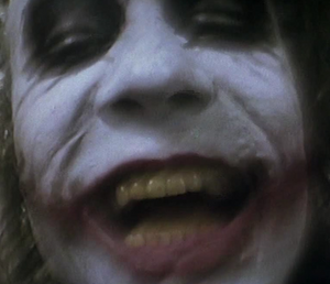 The Joker laughing maniacally