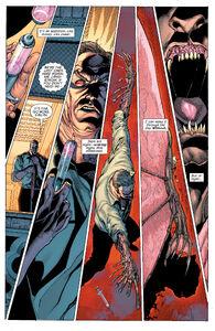 Abraham transforms into Man-Bat