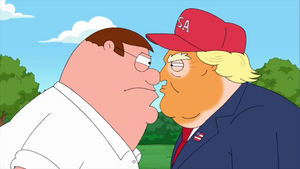 Peter Gets Nose to Nose With Trump