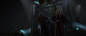 Chancellor Palpatine Amedda guards