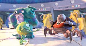 Mike, Sulley, Henry Waternoose, and The CDA