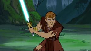 Anakin Jedi stance