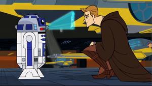 Anakin Skywalker Padmé hologram