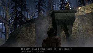 Igor remarks video game