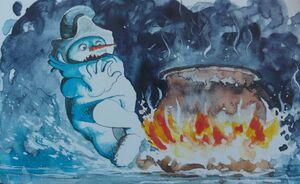 Biting Snowman Pot