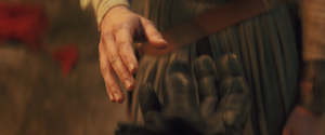 Rey and Kylo hands - join me scene