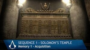 Assassin's Creed Walkthrough - Memory Block 1 Solomon's Temple - Memory Acquisition 1 4