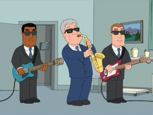 Bill Clinton Plays the Sax